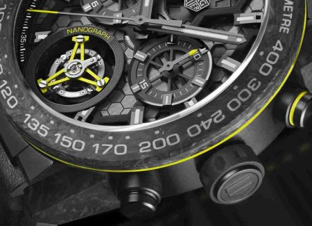 The Replica TAG Heuer Carrera Calibre Heuer 02T Titanium Tourbillon Carbon Watch