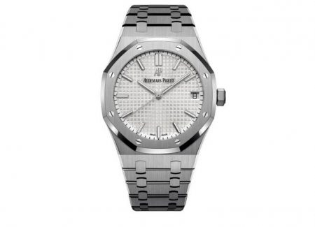 Replica Audemars Piguet Royal Oak Silver Dial Caliber 4302 Stainless Steel 41mm 15500 Review
