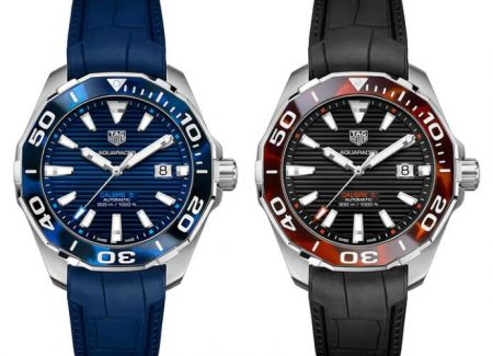 Replica TAG Heuer Aquaracer Tortoiseshell Effect Ceramic Blue And Black Sunray Steel Watch Guide