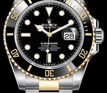 Replica Rolex Submariner Automatic Two-Tone 18K Yellow Gold 41mm 126613 Watches Review