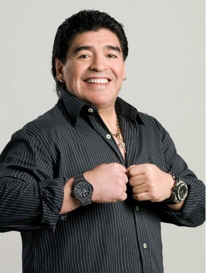 Maradona And His Replica Hublot Big Bang Chronograph Limited Edition Introducing 1