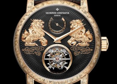 Replica Vacheron Constantin Traditionnelle Tourbillon Qilin 18k Pink Gold Watches Review 3
