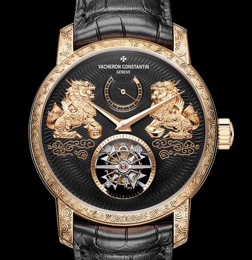Replica Vacheron Constantin Traditionnelle Tourbillon Qilin 18k Pink Gold Watches Review 3
