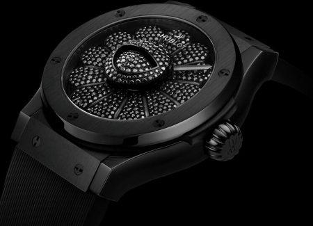 Replica Hublot Classic Fusion Takashi Murakami All Black Ceramic 45mm Watch Review 1