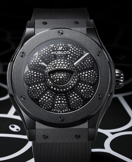 Replica Hublot Classic Fusion Takashi Murakami All Black Ceramic 45mm Watch Review 3
