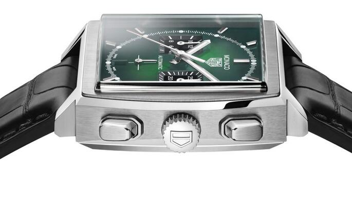 Limited Edition Replica TAG Heuer Monaco Calibre Heuer 02 Green CBL2116 Watch Review 3