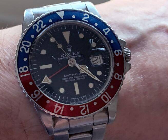 Nader Jahanbani And His Replica Rolex GMT-Master Mark III Radial ref. 1675 Dial Watch 1