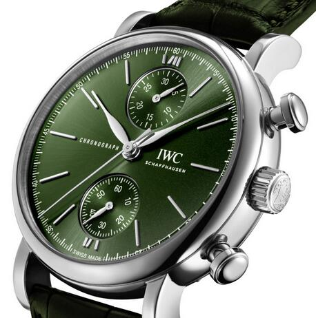 Replica IWC Portofino Self-Winding Chronograph 39 Stainless Steel Watches Review 2